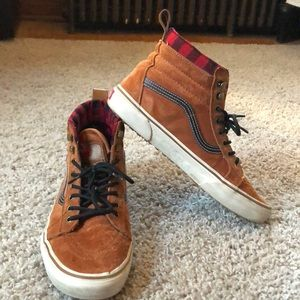 Tan suede high top Vans